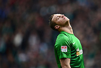 FUSSBALL   1. BUNDESLIGA   SAISON 2012/2013    28. SPIELTAG SV Werder Bremen - FC Schalke 04                          06.04.2013 Marko Arnautovic (SV Werder Bremen) ist enttaeuscht