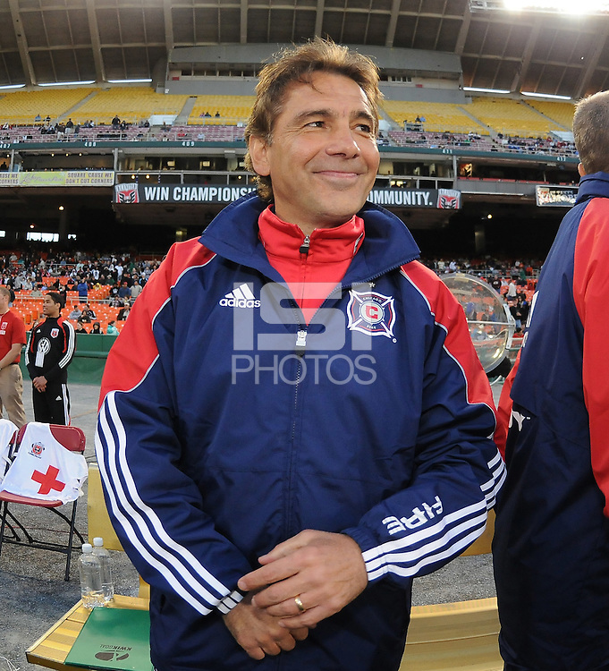 Chicago Fire Head Coach Carlos de los Cobos . The Chicago Fire defeated DC United 2-0 at RFK Stadium, Saturday April 17, 2010.