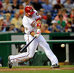 15 August 2008: Washington Nationals' third baseman Ryan Zimmerman in action against the Colorado Rockies at Nationals Park in Washington, DC.  The Rockies edged out the Nationals 4-3, handing the last place Nationals their 8th consecutive loss. ..Mandatory Photo Credit: Ed Wolfstein Photo