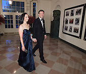 Josh Earnest, Assistant to The President and Press Secretary and Mrs. Natalie Wyeth Earnest arrive at  the State Dinner for China's President President Xi and Madame Peng Liyuan at the White House in Washington, DC for an official State Visit Friday, September 25, 2015. Credit: Chris Kleponis / CNP