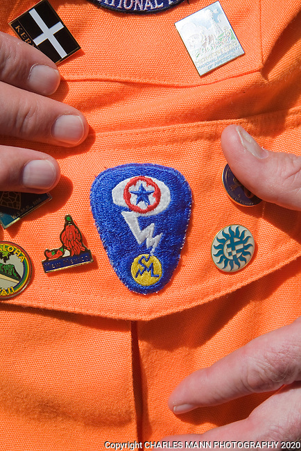 The Trinity Test Site, where the first atomic bomb was exploded on July 16, 1945, is open to the  public on the first Saturday in April and October. A special military patch was created for Manhattan Projects participants.