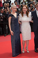 Michelle Williams &amp; Julianne Moore at the premiere for &quot;Wonderstruck&quot; at the 70th Festival de Cannes, Cannes, France. 18 May 2017<br /> Picture: Paul Smith/Featureflash/SilverHub 0208 004 5359 sales@silverhubmedia.com