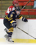 Connor Jones (Quinnipiac - 10), Chris Huxley (Harvard - 28) - The visiting Quinnipiac University Bobcats defeated the Harvard University Crimson 3-1 on Wednesday, December 8, 2010, at Bright Hockey Center in Cambridge, Massachusetts.