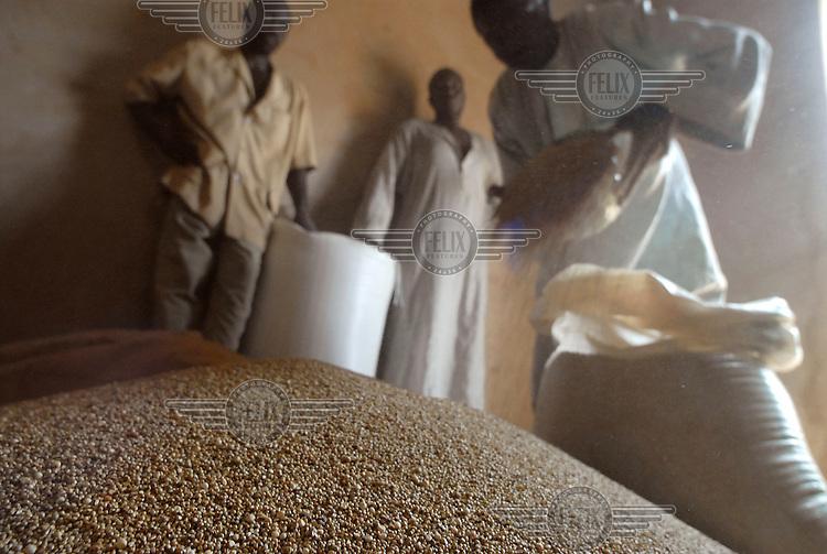 A community grain bank granary in the village of El Gueza.