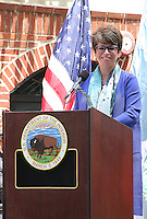 NEW YORK, NY - JUNE 27:  Senior Advisor to President Obama Valerie Jarrett speaking at the Stonewall Inn National Monument designation ceremony the first LGBTQ institution to receive national monument status in New York, New York on June 27, 2016.  Photo Credit: Rainmaker Photo/MediaPunch