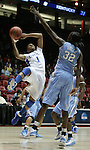 UK Hoops' sophomore guard A'dia Mathies drives up for a layup against North Carolina's She'la White in the second half of UK Hoops' second round NCAA game against UNC in The Pit in Albuquerque, New Mexico, 3/22/11. Photo by Brandon Goodwin | Staff.