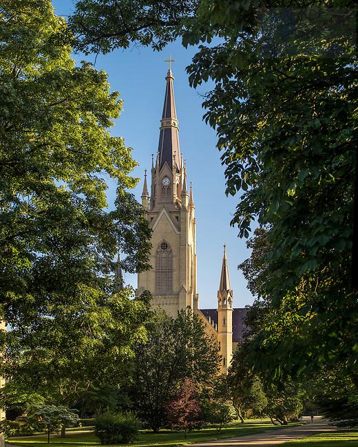 June 2, 2015; Basilica of the Sared Heart steeple. (Photo by Matt Cashore/University of Notre Dame)