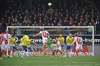 VOETBAL: CAMBUURSTADION: LEEUWARDEN: 15-12-2013, SC Cambuur AJAX, uitslag 1-2, AJAX op zoek naar de winnende goal voor AJAX, ©foto Martin de Jong