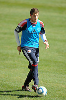 Luke Sassano (32) of the New York Red Bulls during a practice at Red Bull Arena in Harrison, NJ, on March 16, 2010.