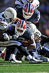 19 October 2008:  Buffalo Bills' running back Fred Jackson gets a first down in the 4th quarter against the San Diego Chargers at Ralph Wilson Stadium in Orchard Park, NY. The Bills defeated the Chargers 23-14 and maintain their first place position in the AFC East with a 5 and 1 record...Mandatory Photo Credit: Ed Wolfstein Photo