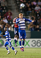 CARSON, CA – June 18, 2011: FC Dallas midfielder Brek Shea (20)  during the match between Chivas USA and FC Dallas at the Home Depot Center in Carson, California. Final score Chivas USA 1, FC Dallas 2.