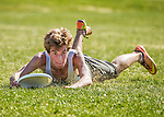 2 May 2015: Vermont Commons School plays South Burlington High School in the Champlainships Ultimate Frisbee Tournament at Williston Central School in Williston, Vermont. Mandatory Credit: Ed Wolfstein Photo *** RAW (NEF) Image File Available ***