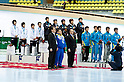 (L-R) Ryosuke Sakazume, Yuzo Takamido, Daisuke Uemura, Takahiro Fujimoto (JPN), .FEBRUARY 2, 2011 - Short Track : Japan team group with silver medal after the men's 5000m relay short track skating event during the 7th Asian Winter Games in Astana, Kazakhstan, Saturday, Feb. 2, 2011. (Photo by AFLO) [0006]