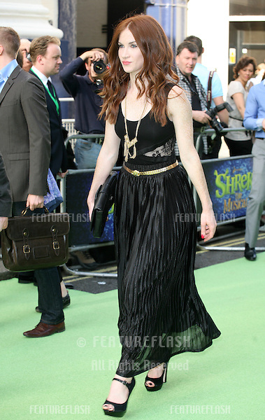 Juliet Oldfield attending the Shrek The Musical Press Night, at the The Theatre Royal, London. 14/06/2011  Picture by: Alexandra Glen / Featureflash
