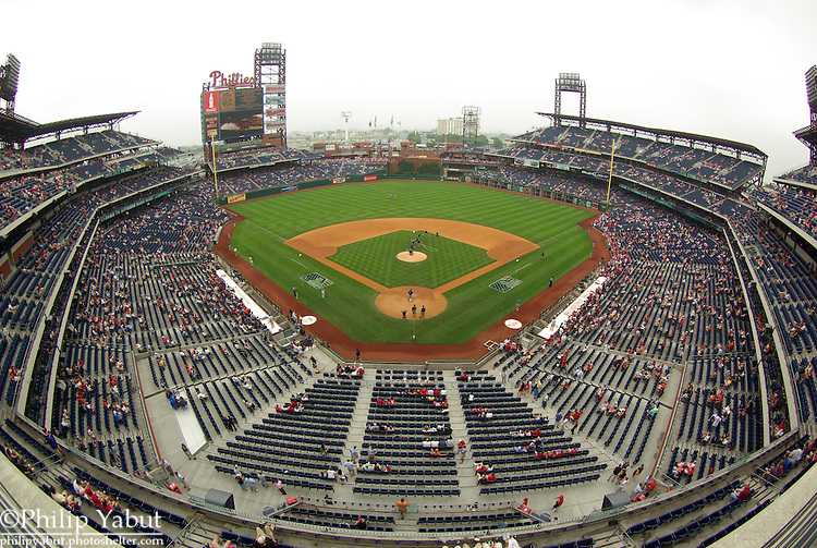 Citizens Bank Park in the fisheye.