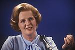 Mrs Maggie Margaret Thatcher 1979 General Election press conferance. London Uk