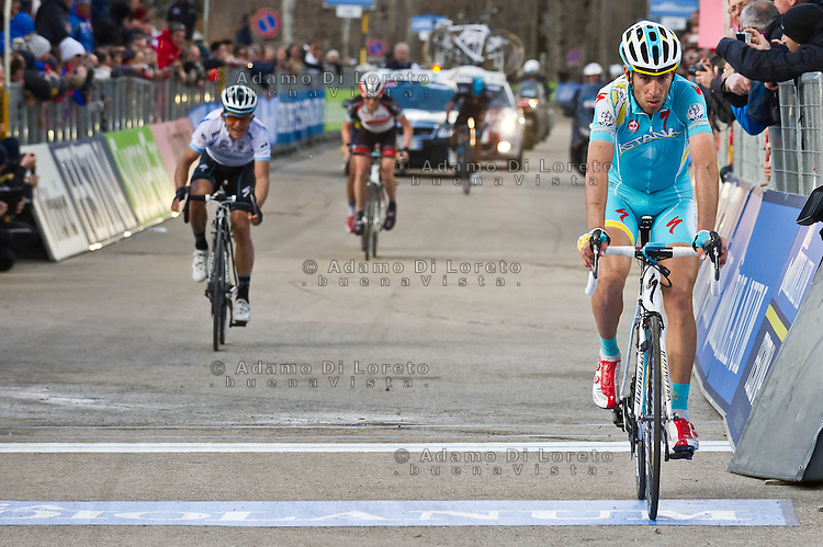 The 4th stage of Tirreno Adriatic from Narni to Prati di Tivo was won by Froome Christpher team Sky ProCycling on March 9, 2013. In the photo Vincenzo Nibali Astana. Photo Credit: Diloreto A.