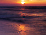 Beautiful red sunset ober lake Huron, Ontario, Canada, summertime nature scenery
