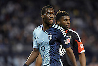 C.J Sapong (17) forward Sporting KC. .Sporting Kansas City defeated D.C Utd 1-0 at Sporting Park, Kansas City, Kansas.