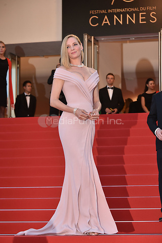 Uma Thurman<br /> arrivals at the opening gala premiere at the 70th Cannes Film Festival, France, May 17, 2017<br /> CAP/Phil Loftus<br /> &copy;Phil Loftus/Capital Pictures /MediaPunch ***NORTH AND SOUTH AMERICAS ONLY***