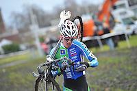 WIELRENNEN: SURHUISTERVEEN: 02-01-2014, <br /> Centrumcross, Gosse van der Meer uit Surhuizum, &copy;foto Martin de Jong