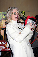 "LOS ANGELES - APR 17:  Diane Keaton and Rescue dogs up for adoption arrives at the ""Darling Companion"" Premiere at Egyptian Theater on April 17, 2012 in Los Angeles, CA"