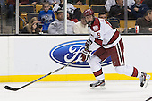 Alex Fallstrom (Harvard - 16) - The Boston College Eagles defeated the Harvard University Crimson 4-1 in the opening round of the 2013 Beanpot tournament on Monday, February 4, 2013, at TD Garden in Boston, Massachusetts.