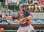 22 March 2015: Houston Astros catcher Max Stassi in Spring Training action against the Pittsburgh Pirates at Osceola County Stadium in Kissimmee, Florida. The Astros defeated the Pirates 14-2 in Grapefruit League play. Mandatory Credit: Ed Wolfstein Photo *** RAW (NEF) Image File Available ***