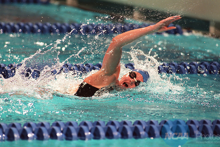 Caption: Nikki Dryden of Florida competes in the 1650 yard freestyle during the Division I Women's Swimming Championship March 18, 1995, in Austin, Texas. Susan Sigman/NCAA photos.