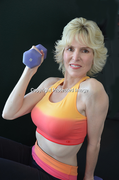 Physically fit mature woman