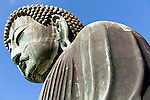 Daibutsu statue, the Great Buddha at Kamakura Japan