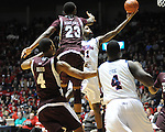 Ole Miss' Terrance Henry (1) vs. Mississippi State's Arnett Moultrie (23) at the C.M. &quot;Tad&quot; Smith Coliseum in Oxford, Miss. on Wednesday, January 18, 2012. (AP Photo/Oxford Eagle, Bruce Newman).