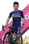 Caleb Ewan (AUS) Orica-Scott at the Team Presentation in Alghero, Sardinia for the 100th edition of the Giro d'Italia 2017, Sardinia, Italy. 4th May 2017.<br /> Picture: Eoin Clarke | Cyclefile<br /> <br /> <br /> All photos usage must carry mandatory copyright credit (&copy; Cyclefile | Eoin Clarke)
