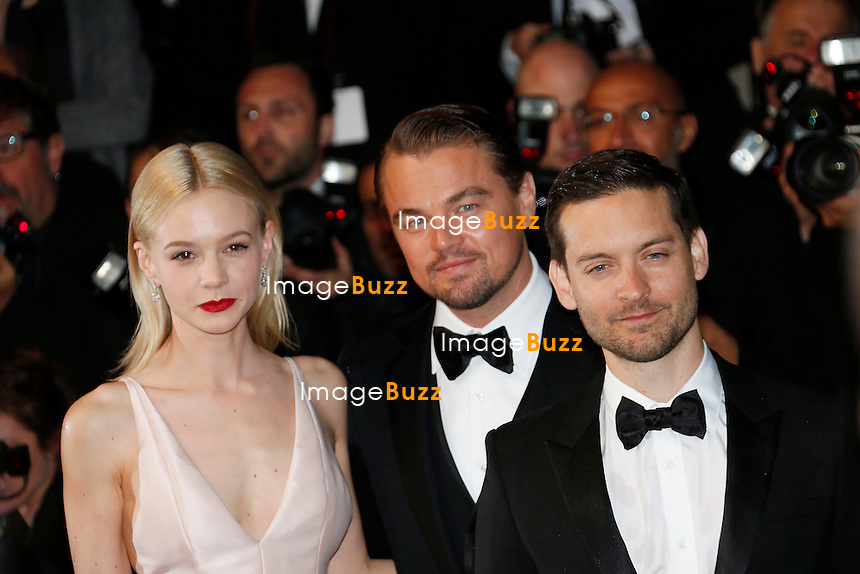 CPE/Carey Mulligan, Leonardo Di Caprio and Tobey Maguire attends the Opening Ceremony and 'The Great Gatsby' Premiere during the 66th Annual Cannes Film Festival at the Theatre Lumiere on May 15, 2013 in Cannes, France.