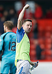 Aberdeen v St Johnstone...03.10.15   SPFL   Pittodrie, Aberdeen<br /> Steven MacLean celebrates at full time<br /> Picture by Graeme Hart.<br /> Copyright Perthshire Picture Agency<br /> Tel: 01738 623350  Mobile: 07990 594431