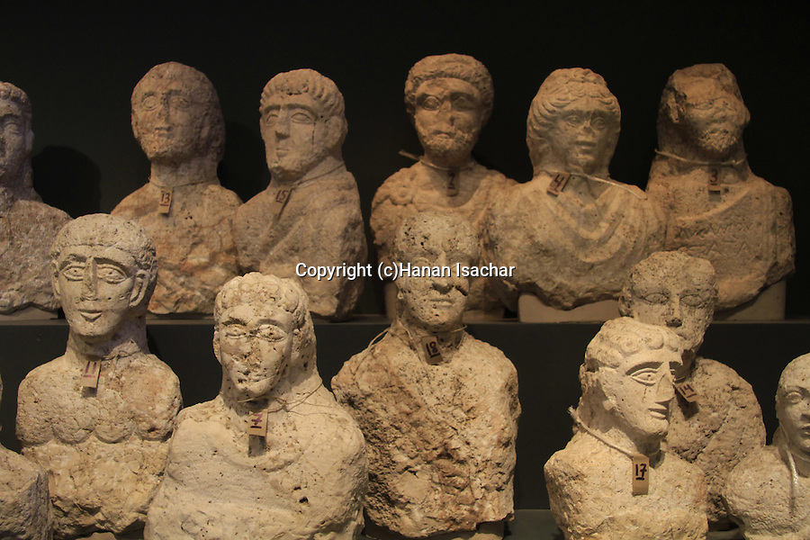 Israel, Jerusalem, , burial portraits from Beth Shean, at the Israel Museum