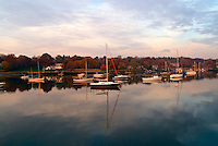 Connecticut, Greenwich, Indian Harbor, Boasts reflection
