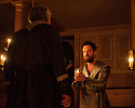 Shakespeare's Globe presents THE WINTER'S TALE, by William Shakespeare, in the Sam Wanamaker Playhouse. Picture shows: David Yelland (Antigonus) and John Light (Leontes)