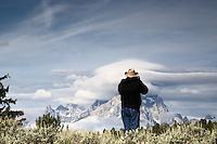 Lenticular Clouds,  Grand Tetons, Photographer, Daryl's Pond,  Grand Teton National Park