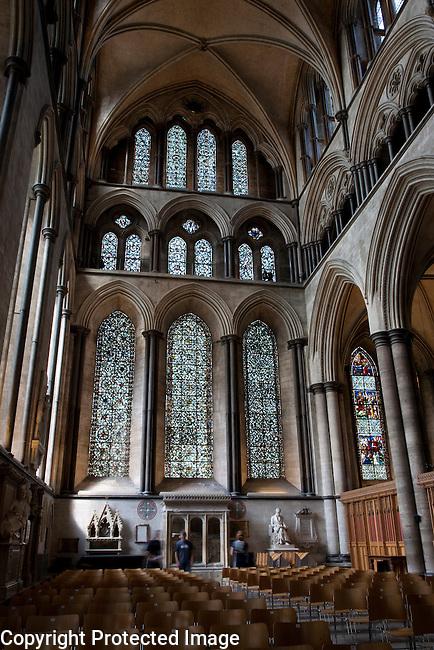 North Transept of Salisbury Cathedral Church, Salisbury, England, UK