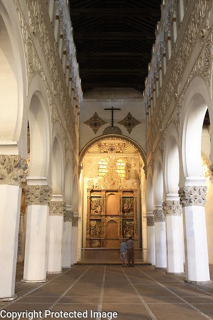 Synagogue of Santa Maria La Blanca, Toledo, Castile La Mancha, Spain