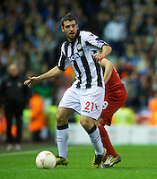 LIVERPOOL, ENGLAND - Thursday, October 4, 2012: Udinese Calcio's Andrea Lazzari in action against Liverpool during the UEFA Europa League Group A match at Anfield. (Pic by David Rawcliffe/Propaganda)