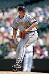 26 August 2007:  Washington Nationals starting pitcher Joel Hanrahan on the mound against the Colorado Rockies at Coors Field in Denver, Colorado. The Rockies defeated the Nationals 10-5 to sweep the 3-game series...Mandatory Photo Credit: Ed Wolfstein Photo