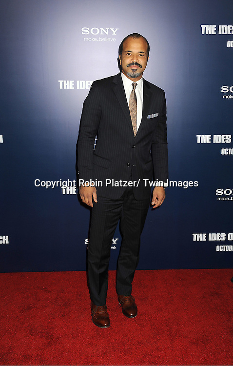 """Jeffrey Wright  attends the New York Premiere of """"The Ides of March"""" ..on October 5, 2011 at The Ziegfeld Theatre in New York City. The movie stars George Clooney, Marisa Tomei, Evan Rachel Wood, Paul Giamatti, Phillip Seymour Hoffman and Jeffrey Wright."""