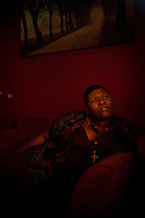 Los Angeles, California, September 29, 2011 - A portrait of singer/songwriter Stacy Barthe in her North Hollywood home. Barthe is known for her songwriting, notably for Rihanna, Brtiney Spears, Katy Perry, Black Eyed Peas, and Diddy to name a few. But she has since moved in front of the microphone releasing two EPs this year alone. Barthe says she draws inspiration from her own life for her lyrics.  &quot;I believe the music I create fosters security and encourages those that hear it to embrace what makes them different and to find the beauty within their situation,&quot; says Barthe...<br />