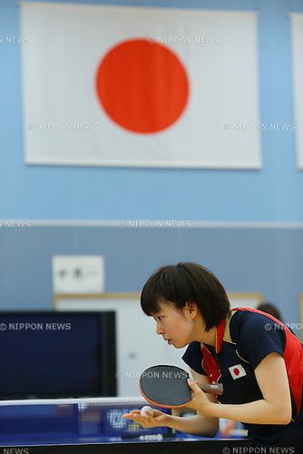 kasumi Ishikawa (JPN), JULY 9, 2012 - Table Tennis : Japan national team training session for London Olympic Games 2012 at Ajinomoto National Training Center, Tokyo, Japan. .(Photo by YUTAKA/AFLO SPORT)