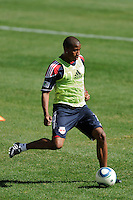 Jeremy Hall (17) of the New York Red Bulls during a practice at Red Bull Arena in Harrison, NJ, on March 16, 2010.