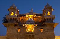 Jagmandir Island Palace of City Palace Complex of 76th Maharana of Mewar, Shreeji Arvind Singh Mewar of Udaipur Rajasthan India