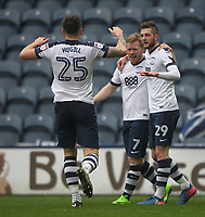 Preston North End's Daryl Horgan celebrates scoring his sides second goal <br /> <br /> Photographer Mick Walker/CameraSport<br /> <br /> The EFL Sky Bet Championship - Preston North End v Reading - Saturday 11th March 2017 - Deepdale - Preston<br /> <br /> World Copyright &copy; 2017 CameraSport. All rights reserved. 43 Linden Ave. Countesthorpe. Leicester. England. LE8 5PG - Tel: +44 (0) 116 277 4147 - admin@camerasport.com - www.camerasport.com
