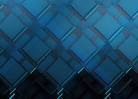 Full frame three dimensional blue repeat pattern